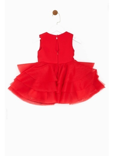 Tarsiani Kız Çocuk Kırmızı Elbise Kırmızı